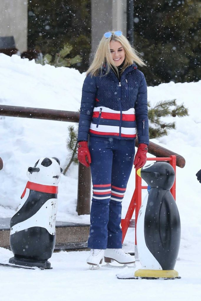 Tallia Storm Was Seen During Her Christmas Break on Holiday at St Moritz 12/24/2017-1