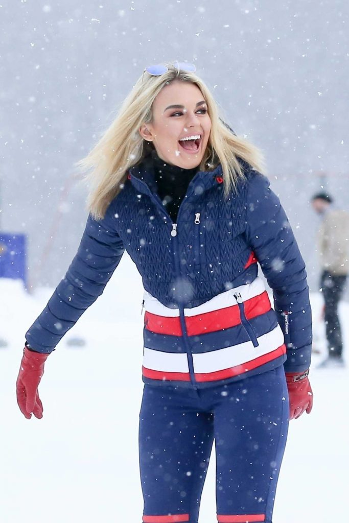 Tallia Storm Was Seen During Her Christmas Break on Holiday at St Moritz 12/24/2017-5
