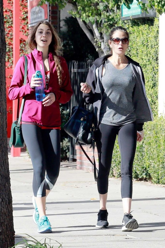 Teri Hatcher Leaves the Gym with Her Daughter in Studio City 12/22/2017-1