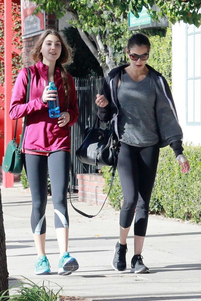 Teri Hatcher Leaves the Gym with Her Daughter in Studio City 12/22/2017-2
