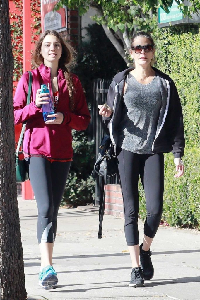Teri Hatcher Leaves the Gym with Her Daughter in Studio City 12/22/2017-4