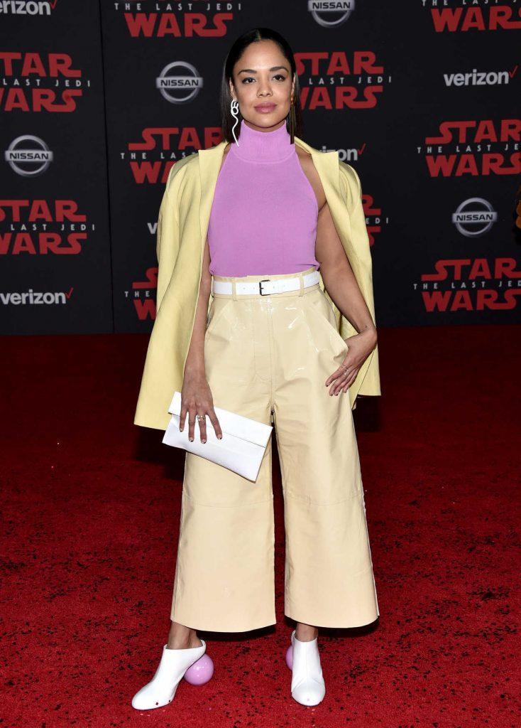 Tessa Thompson at the Star Wars: The Last Jedi Premiere in Los Angeles 12/09/2017-1