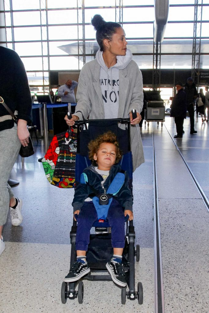 Thandie Newton Was Spotted with Her Son at LAX Airport in LA 12/22/2017-3