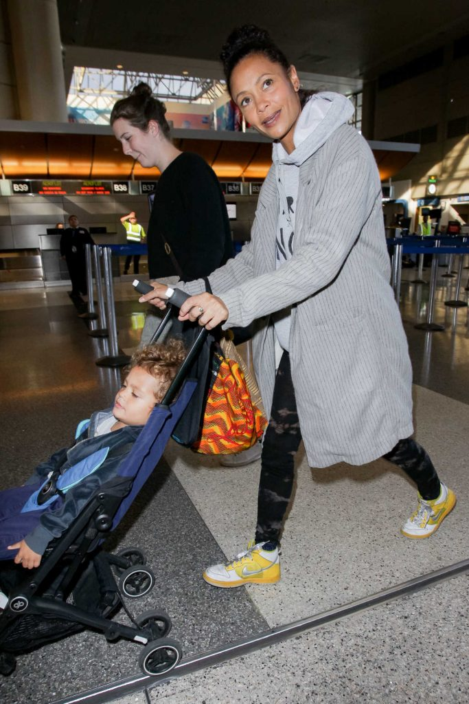 Thandie Newton Was Spotted with Her Son at LAX Airport in LA 12/22/2017-5
