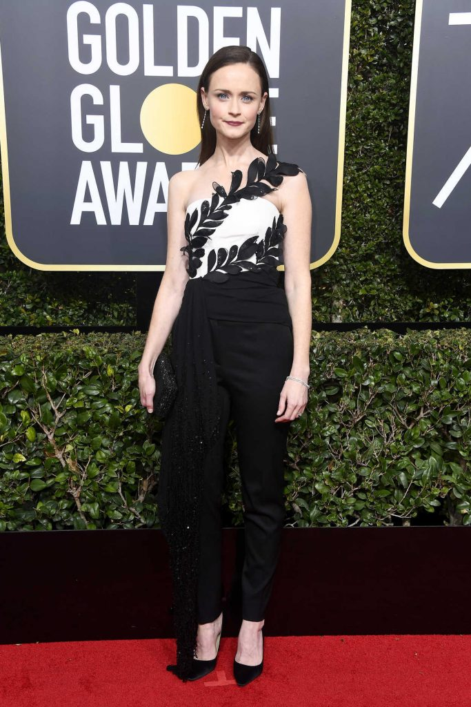 Alexis Bledel at the 75th Annual Golden Globe Awards in Beverly Hills 01/07/2018-1
