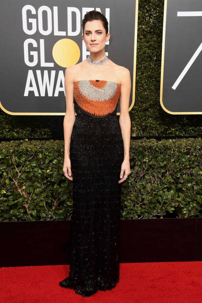 Allison Williams at the 75th Annual Golden Globe Awards in Beverly Hills 01/07/2018-1