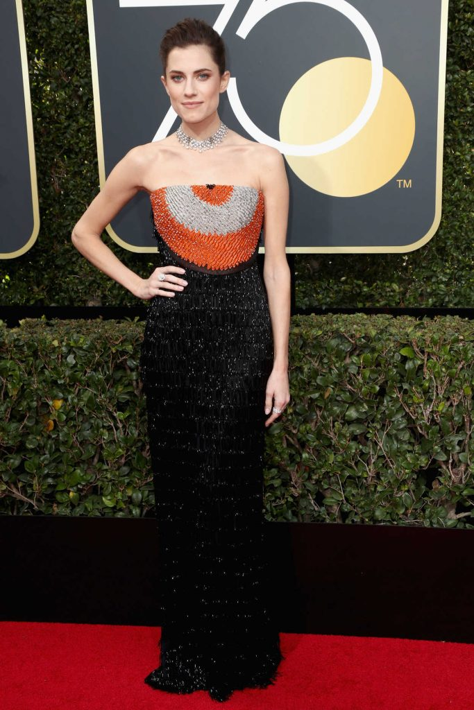 Allison Williams at the 75th Annual Golden Globe Awards in Beverly Hills 01/07/2018-2