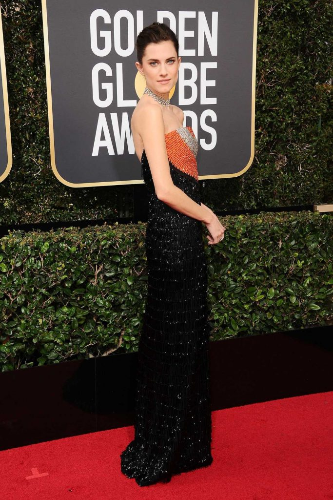 Allison Williams at the 75th Annual Golden Globe Awards in Beverly Hills 01/07/2018-3