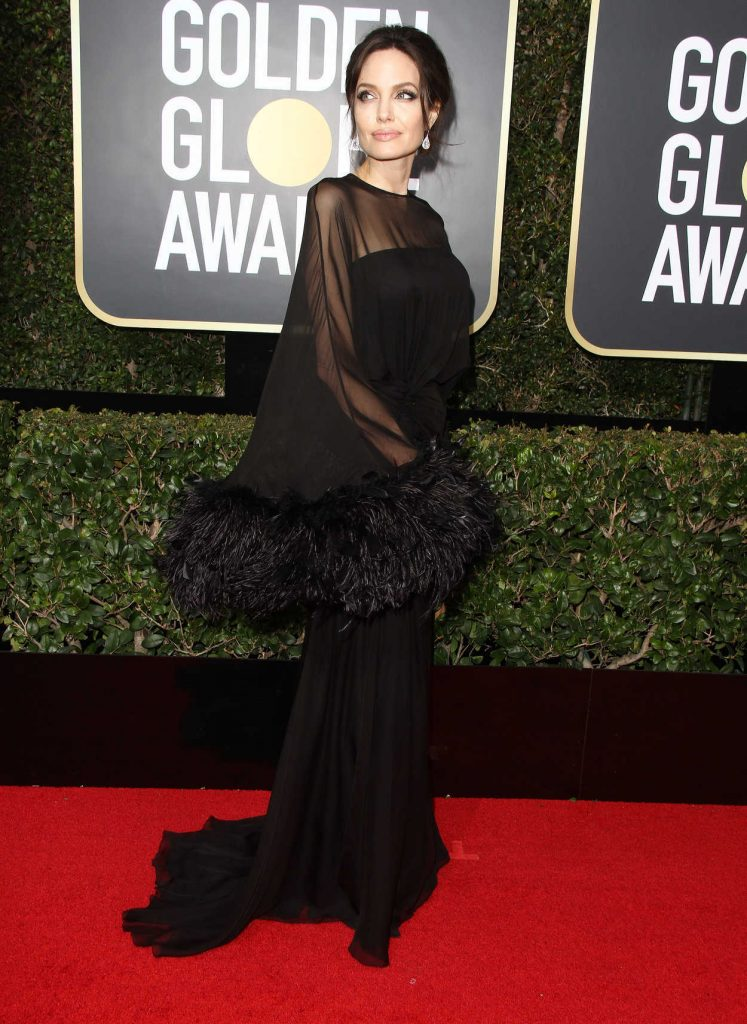 Angelina Jolie at the 75th Annual Golden Globe Awards in Beverly Hills 01/07/2018-2