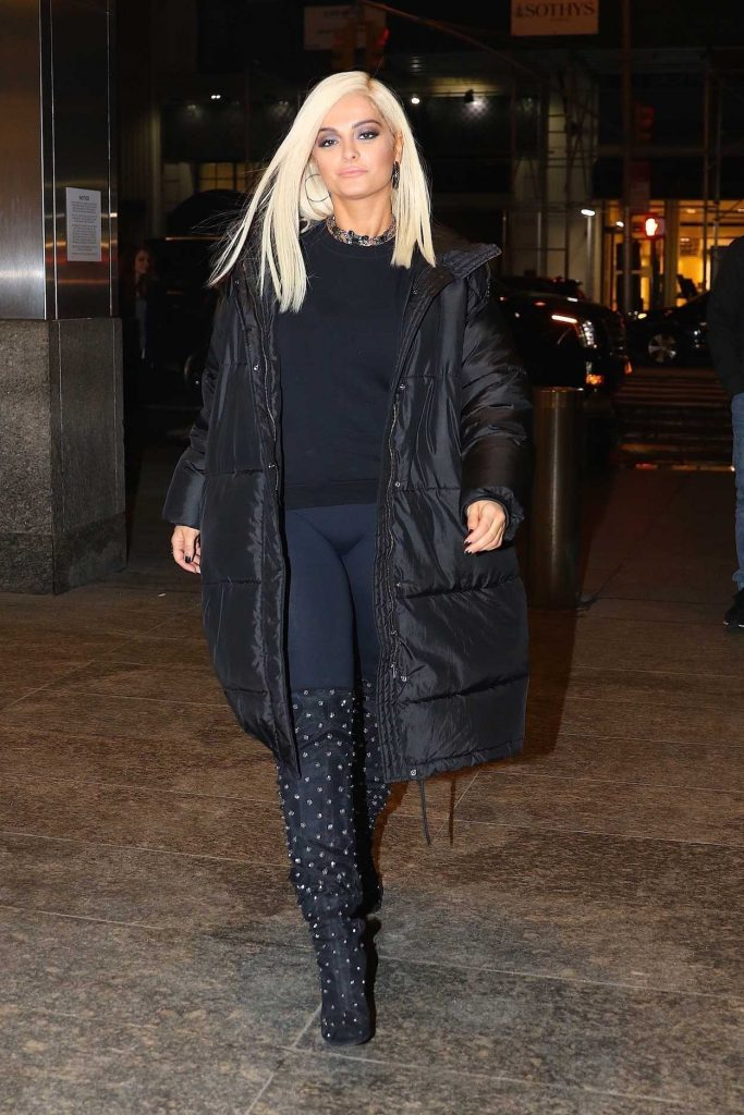 Bebe Rexha Arrives at Nobu Restaurant in NYC 01/23/2018-2