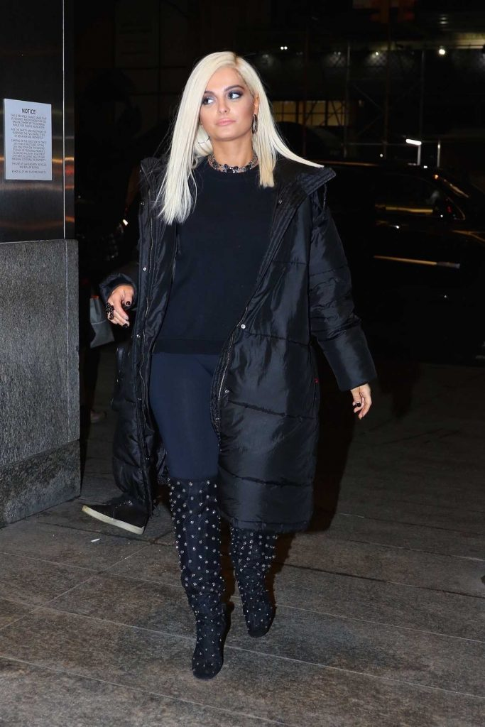 Bebe Rexha Arrives at Nobu Restaurant in NYC 01/23/2018-3