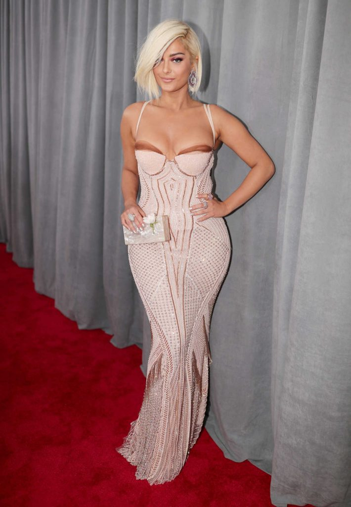 Bebe Rexha at the 60th Annual Grammy Awards at Madison Square Garden in New York City 01/28/2018-1