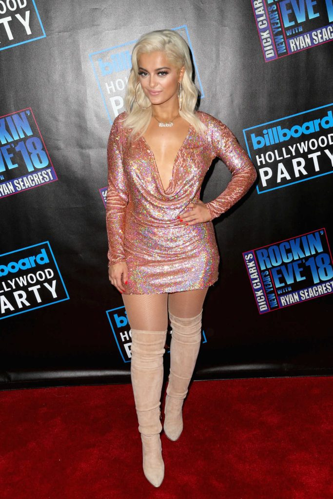 Bebe Rexha Attends Dick Clark's New Year's Rockin Eve with Ryan Seacrest 2018 in Los Angeles 12/31/2017-1