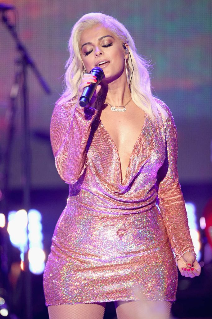 Bebe Rexha Attends Dick Clark's New Year's Rockin Eve with Ryan Seacrest 2018 in Los Angeles 12/31/2017-4