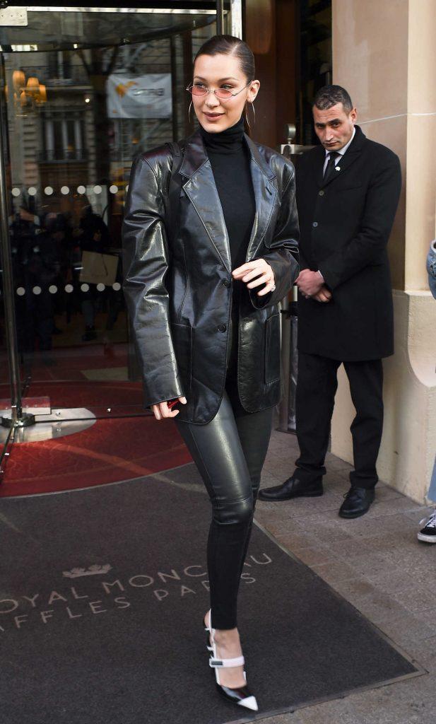 Bella Hadid Leaves Her Hotel in Paris 01/24/2018-1