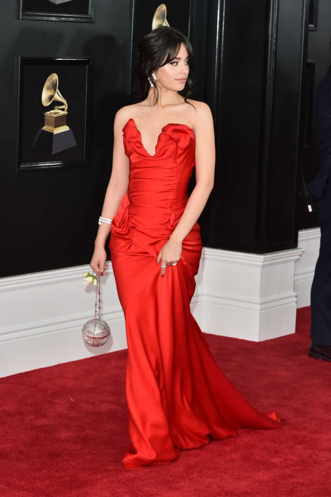 Camila Cabello at the 60th Annual Grammy Awards at Madison Square Garden in New York City 01/28/2018-3