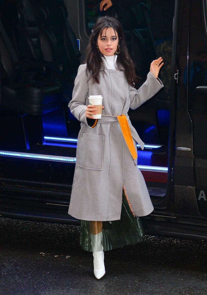 Camila Cabello Wears a Long Grey Coat Out in New York City 01/17/2018-1