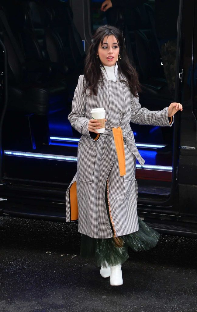 Camila Cabello Wears a Long Grey Coat Out in New York City 01/17/2018-2