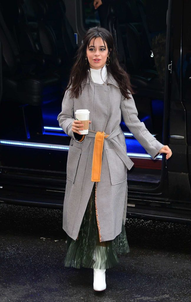 Camila Cabello Wears a Long Grey Coat Out in New York City 01/17/2018-3