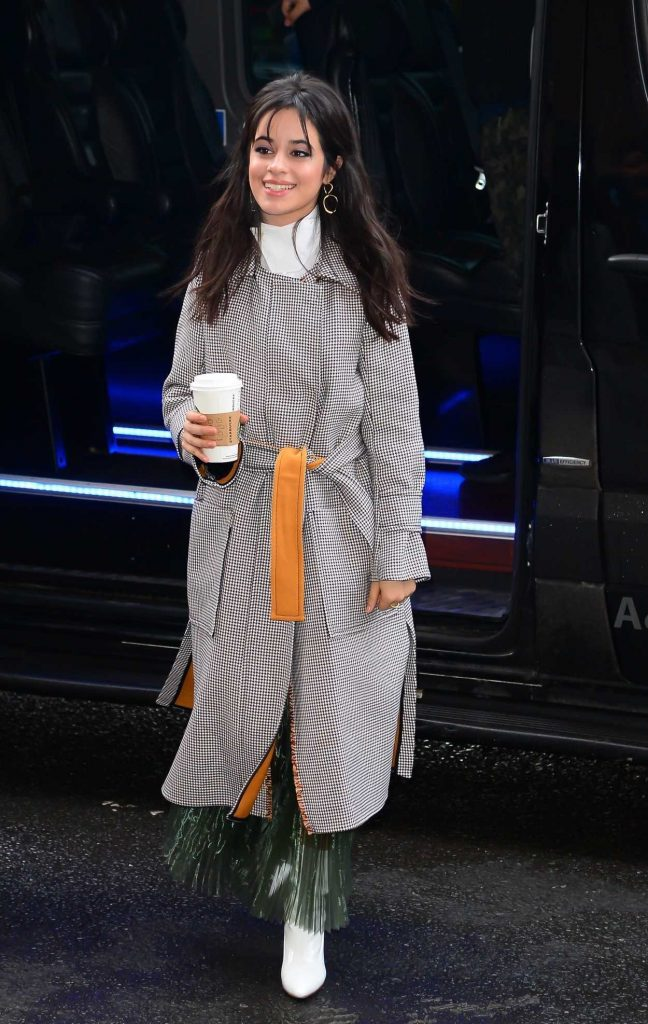 Camila Cabello Wears a Long Grey Coat Out in New York City 01/17/2018-4