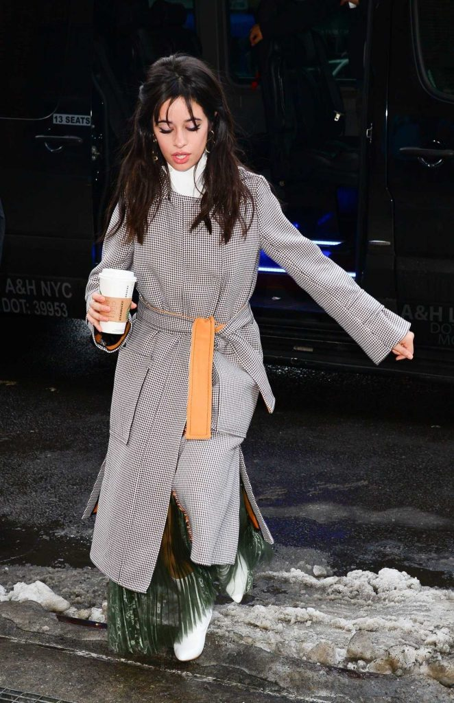 Camila Cabello Wears a Long Grey Coat Out in New York City 01/17/2018-5