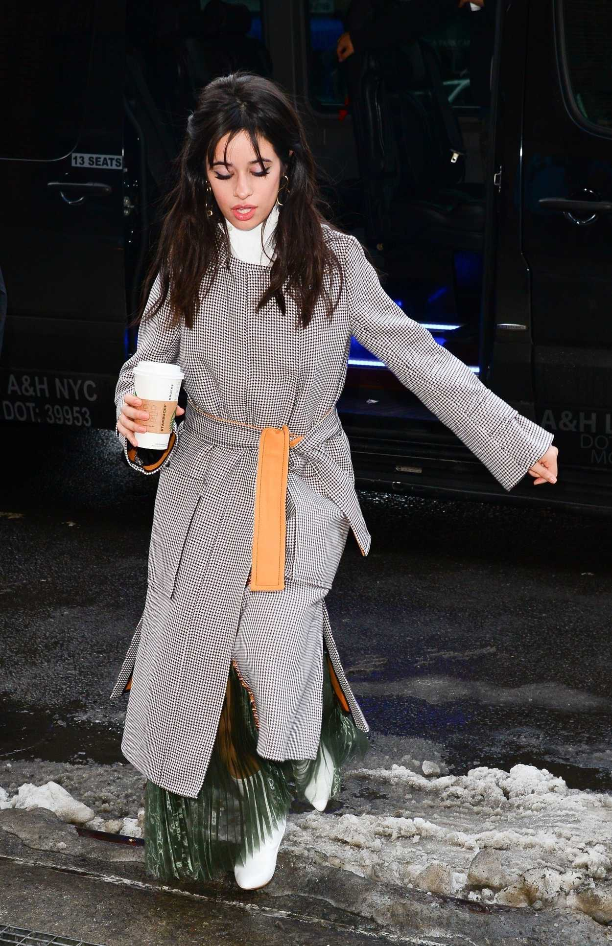 Camila Cabello Wears a Long Grey Coat Out in New York City ...