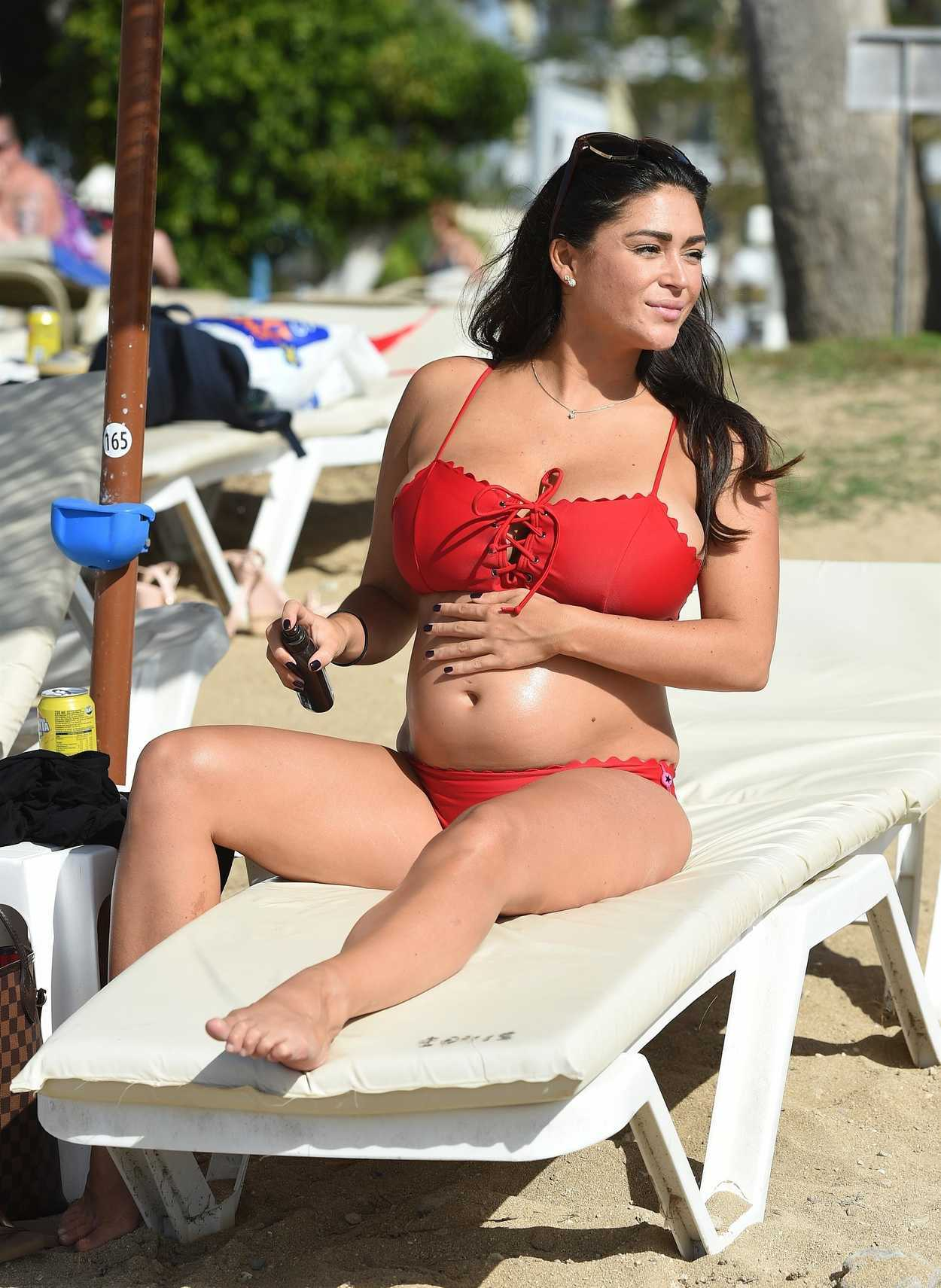 Casey Batchelor in a Bikini on the pool in Lanzarote Pic 2 of 35