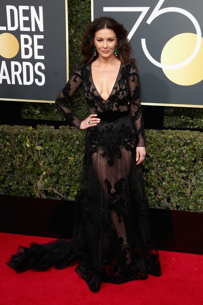 Catherine Zeta-Jones at the 75th Annual Golden Globe Awards in Beverly Hills 01/07/2018-1
