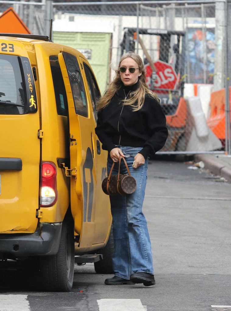 Chloe Sevigny Takes a Cab in Manhattan 01/23/2018-2