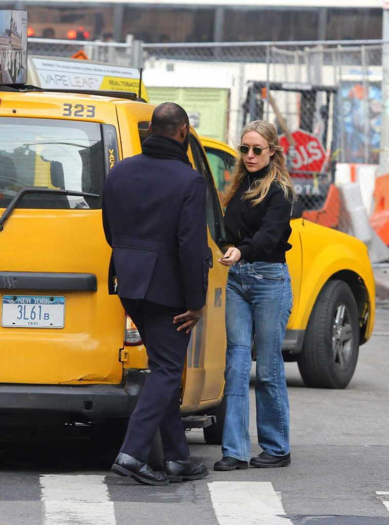 Chloe Sevigny Takes a Cab in Manhattan 01/23/2018-4