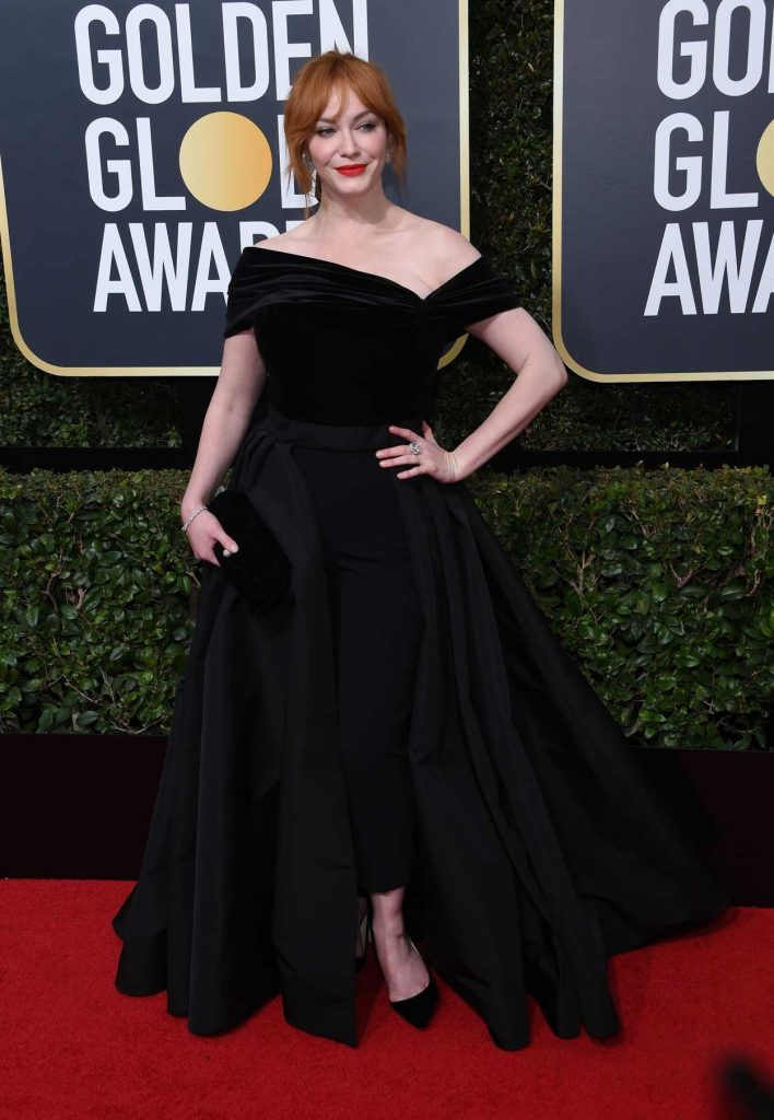 Christina Hendricks at the 75th Annual Golden Globe Awards in Beverly Hills 01/07/2018-2