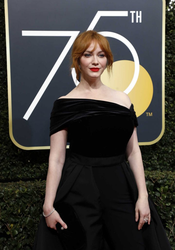Christina Hendricks at the 75th Annual Golden Globe Awards in Beverly Hills 01/07/2018-4