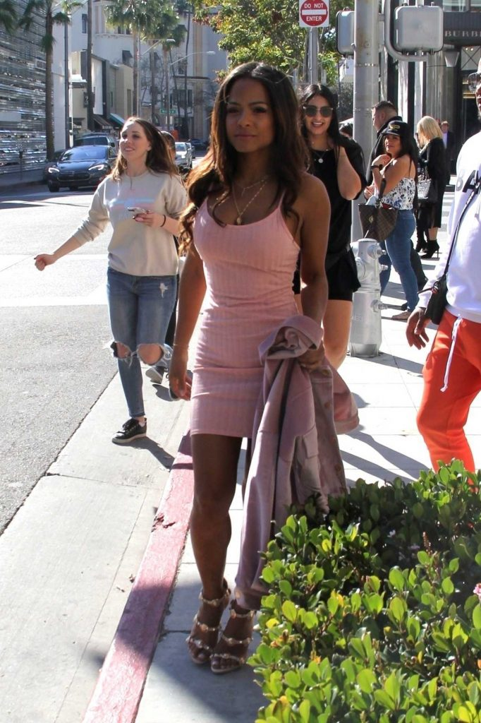 Christina Milian Out Shopping on Rodeo Drive in Beverly Hills 01/22/2018-1