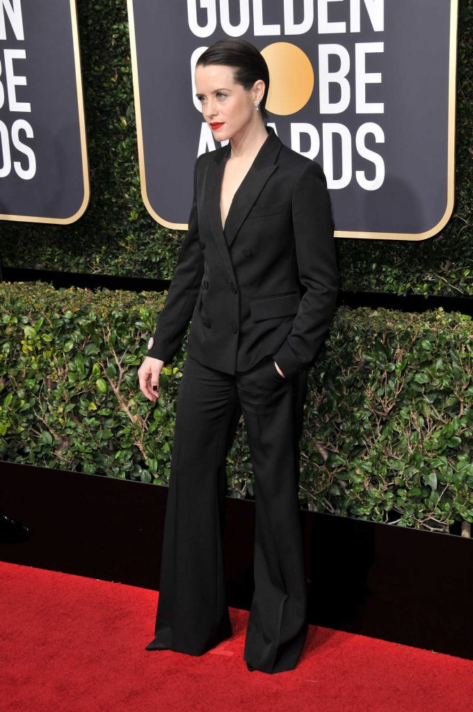 Claire Foy at the 75th Annual Golden Globe Awards in Beverly Hills 01/07/2018-2