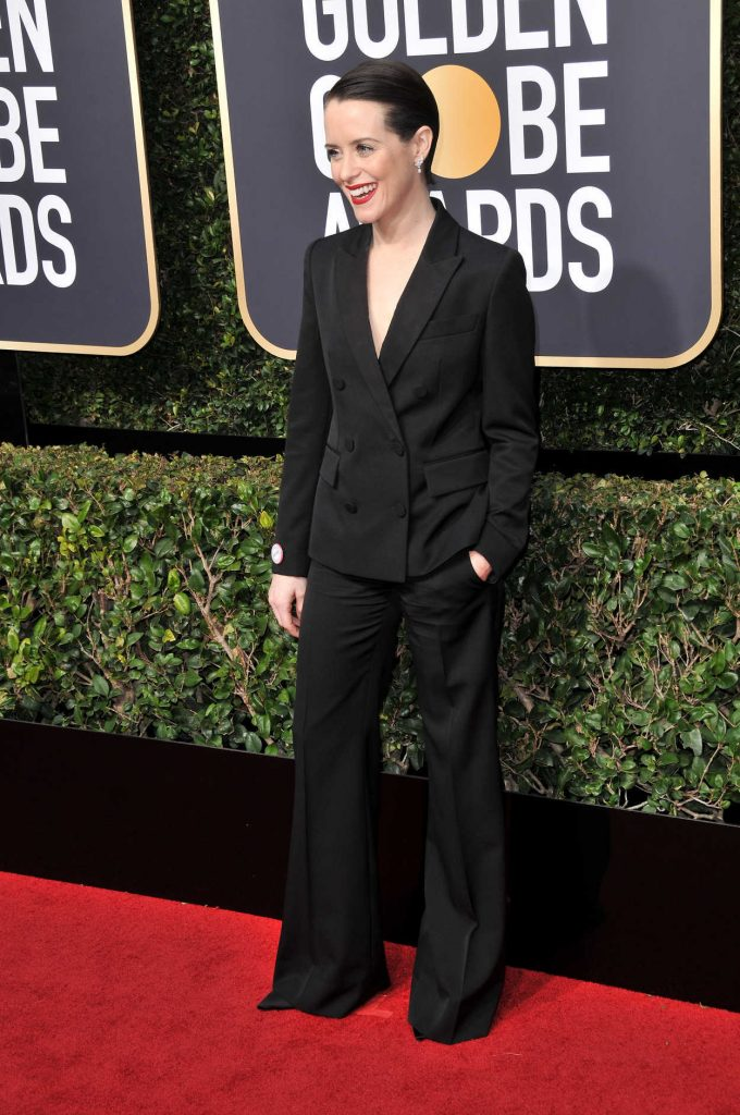 Claire Foy at the 75th Annual Golden Globe Awards in Beverly Hills 01/07/2018-3