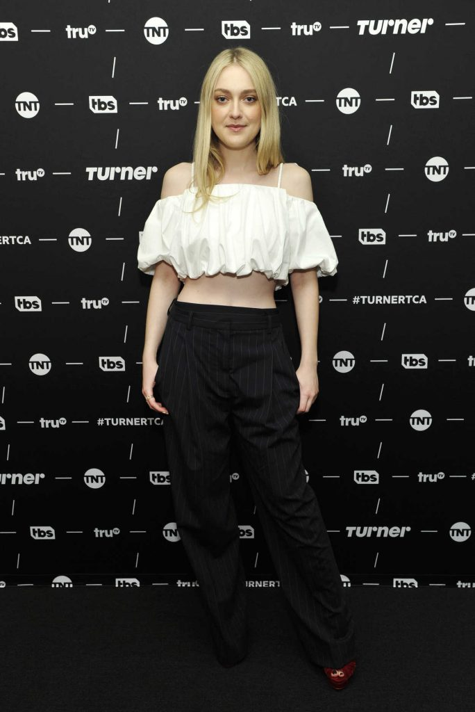Dakota Fanning at The Alienist TV Show Panel During TCA Winter Press Tour in Los Angeles 01/11/2018-1