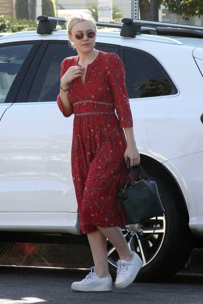 Dakota Fanning Was Spotted Out with Friends in Studio City 12/30/2017-1