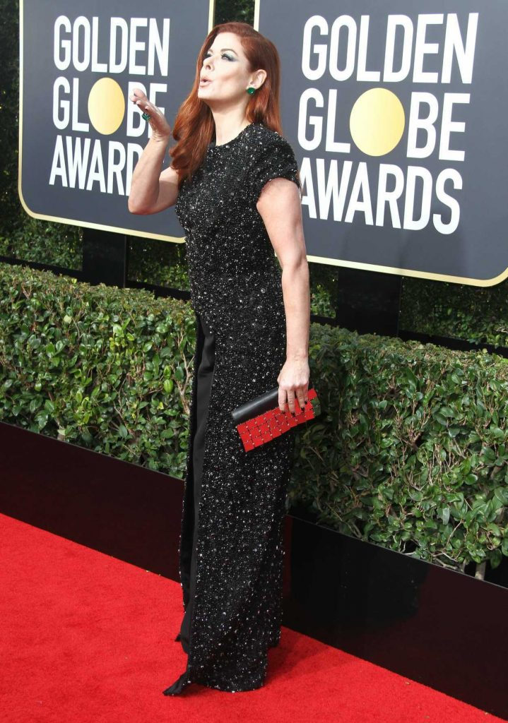 Debra Messing at the 75th Annual Golden Globe Awards in Beverly Hills 01/07/2018-4
