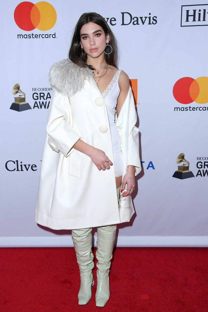 Dua Lipa at the Clive Davis and Recording Academy Pre-Grammy Gala and Grammy Salute to Industry Icons in New York 01/27/2018-2
