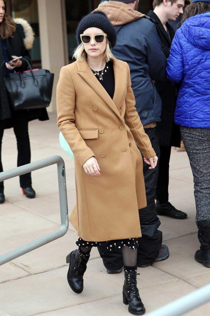 Emma Roberts Was Seen in Salt Lake City During 2018 Sundance Film Festival 01/19/2018-1