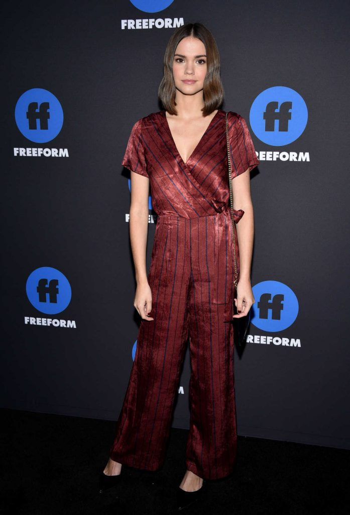 Maia Mitchell at 2018 Freeform Summit in Hollywood 01/18/2018-2