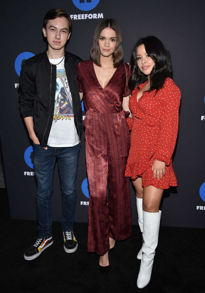 Maia Mitchell at 2018 Freeform Summit in Hollywood 01/18/2018-4