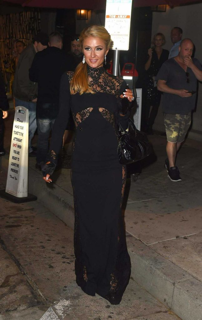 Paris Hilton Leaves Craig's Restaurant in West Hollywood 01/06/2018-1