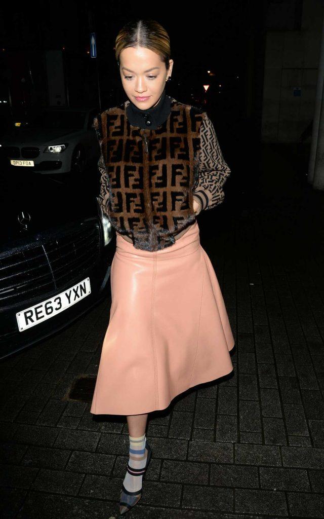 Rita Ora Arrives at BBC Radio 1 Studios in London 01/12/2018-1