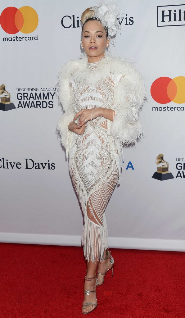 Rita Ora at the Clive Davis and Recording Academy Pre-Grammy Gala and Grammy Salute to Industry Icons in New York 01/27/2018-1