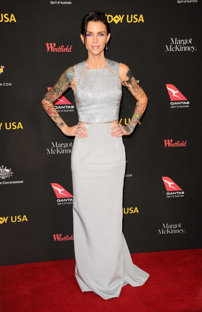 Ruby Rose at 2018 G'Day USA Los Angeles Black Tie Gala at the InterContinental in Los Angeles 01/27/2018-1