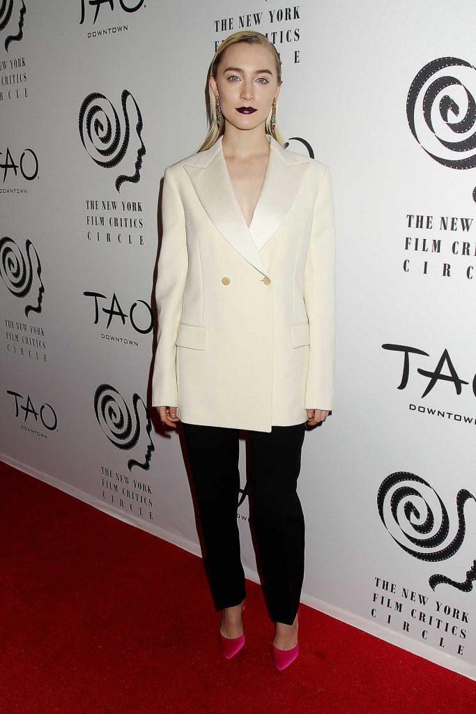 Saoirse Ronan at 2017 New York Film Critics Awards at Tao Downtown in NYC 01/03/2018-1