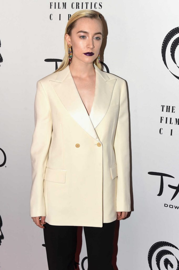 Saoirse Ronan at 2017 New York Film Critics Awards at Tao Downtown in NYC 01/03/2018-3