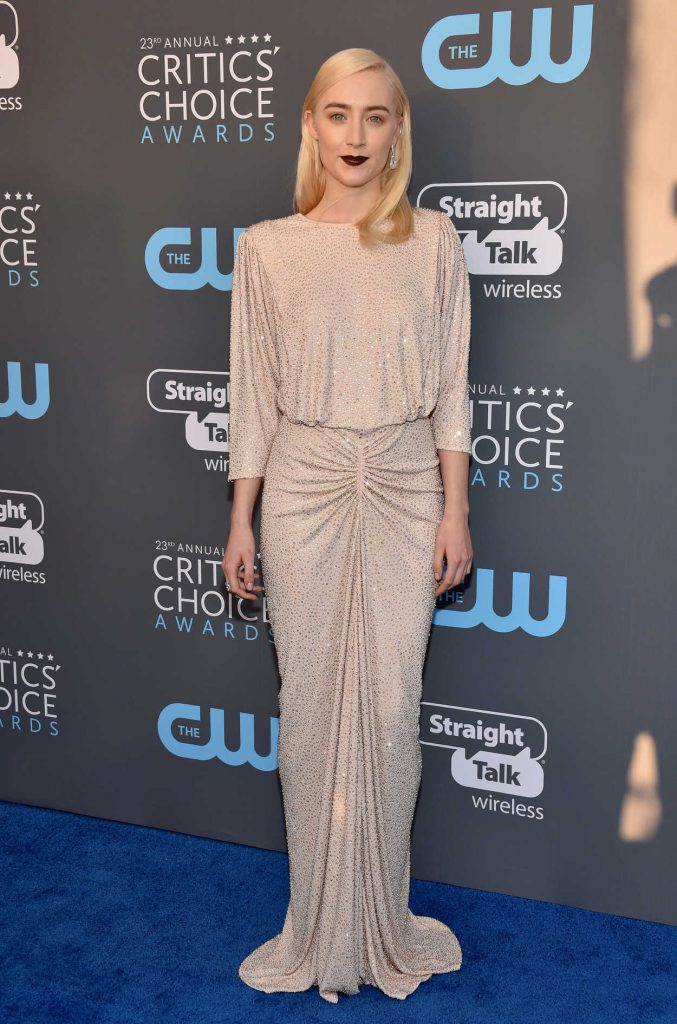 Saoirse Ronan at the 23rd Annual Critics' Choice Awards in Santa Monica 01/11/2018-1