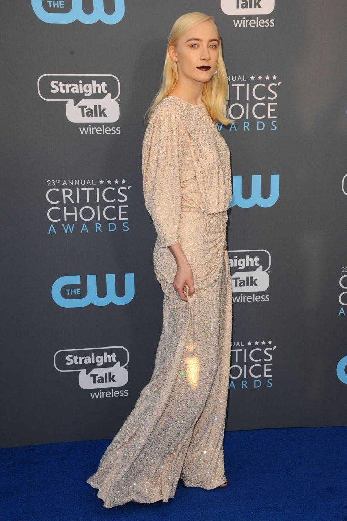 Saoirse Ronan at the 23rd Annual Critics' Choice Awards in Santa Monica 01/11/2018-2